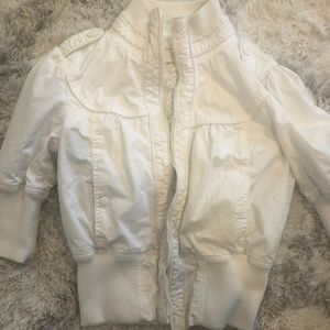 Adorable Forever 21 White Bomber Jacket